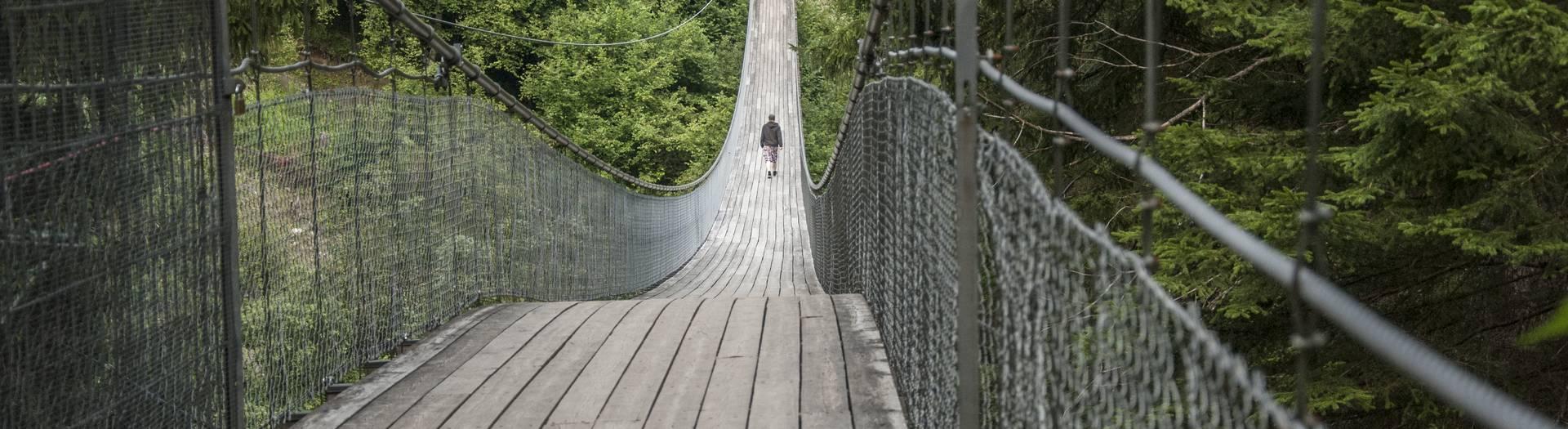 Europas 1. Babydorf Trebesing bietet großen wie kleinen Gästen ein abwechslungsreiches und spannendes Erholungsprogramm. Die Märchenwandermeile mit der Hängebrücke in der Drachenschlucht verspricht Abenteuer pur.