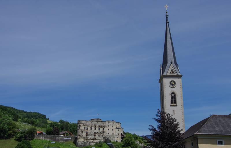 Künstlerstadt Gmünd, die Alte Burg thront über der Stadt