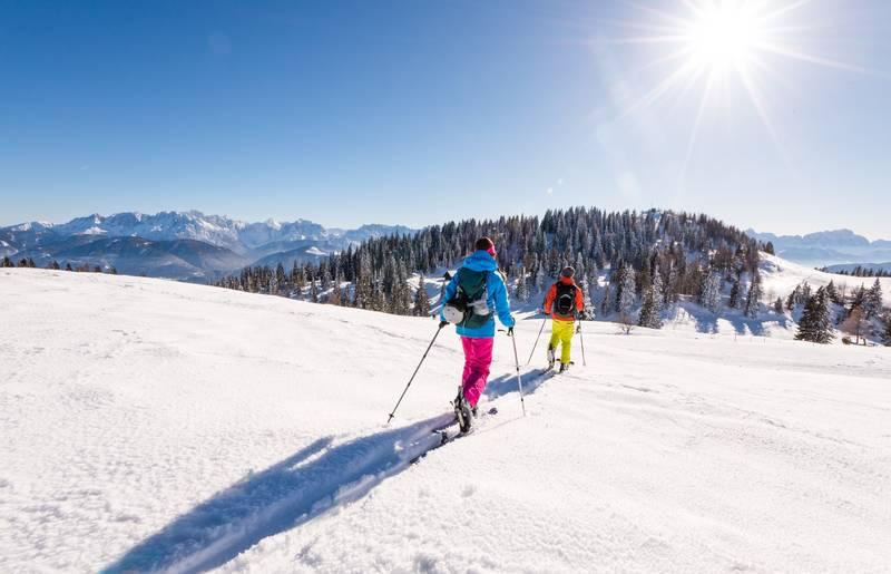 <p>Skitouren in Kärnten, Naturpark Dobratsch</p>