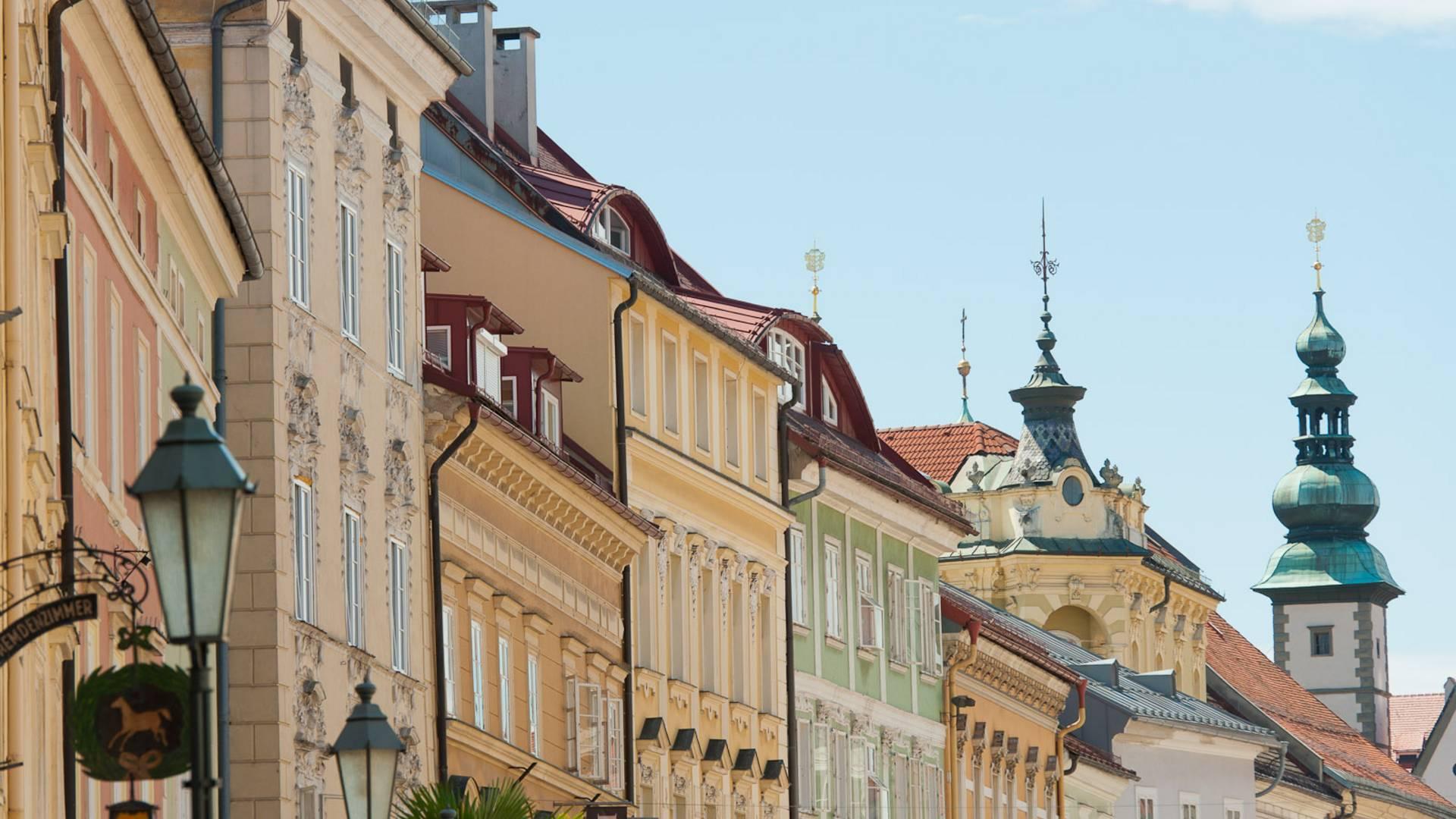Klagenfurt Altstadt Fassaden
