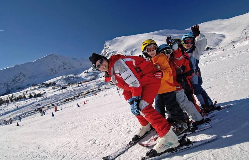 Skikurs auf der Heidi Alm am Falkert in den Nockbergen
