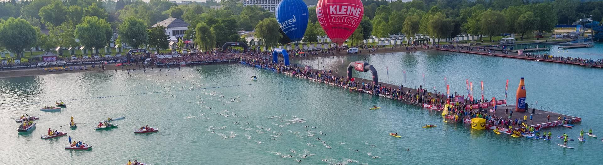 Ironman Schwimmstart Klagenfurt