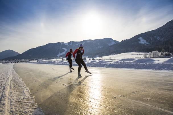 Weissensee - Eislaufen