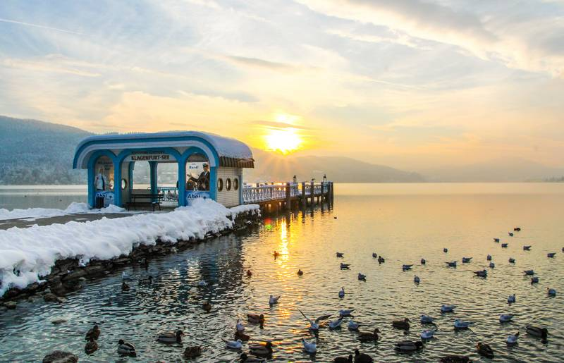 Klagenfurt Winter Bootsanlegestelle c Pixelpoint Multimedia