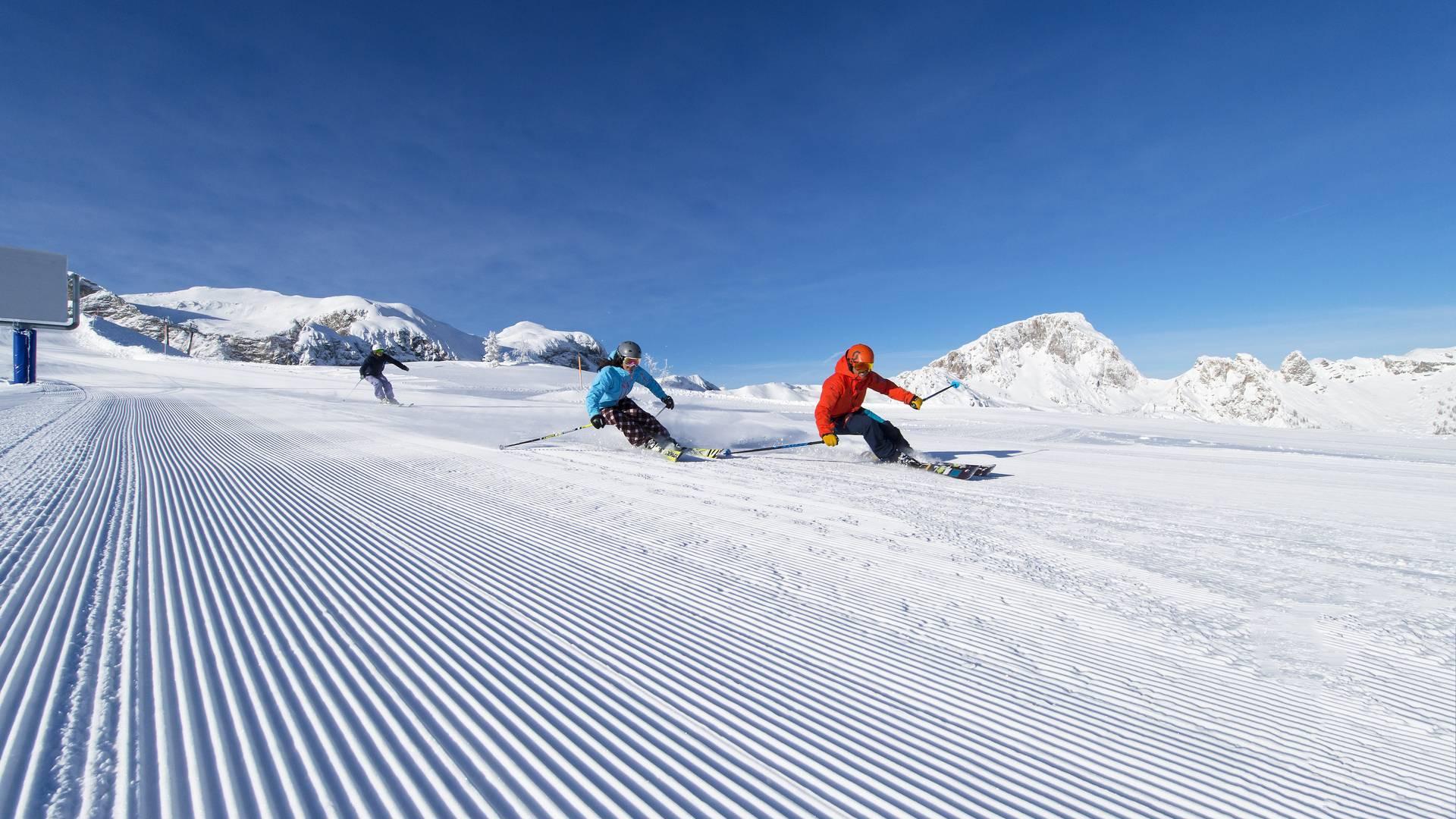 Sportliches Skifahren am Nassfeld